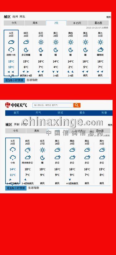 天气预报 开封 沧州