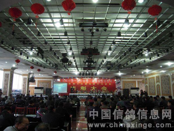 、经理李拥军、台湾赛鸽名家张光南等在主席台就座.