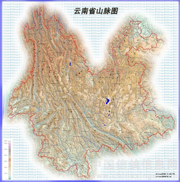云南山脉图