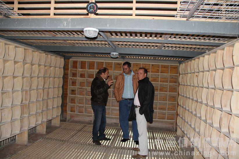 实木制作的鸽舍内部设施